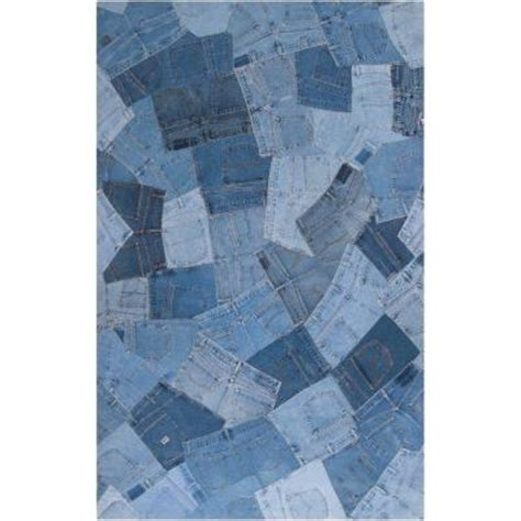 blue jean rug artistic weavers coso blue denim 5 ft x 8 ft area rug awfai9013 58 the home depot