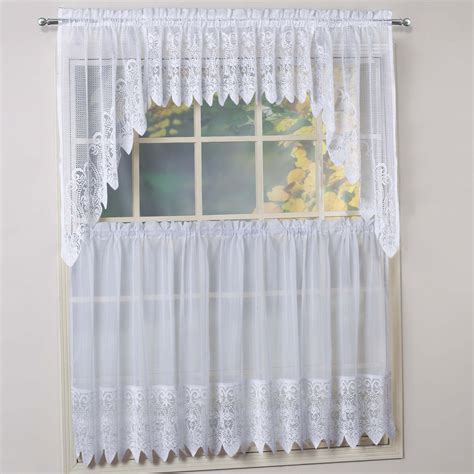 Swag Curtains Images Decor Swag Kitchen Curtains Harmony White Micro Stripe Semi Sheer Kitchen Curtains Fhgproperties