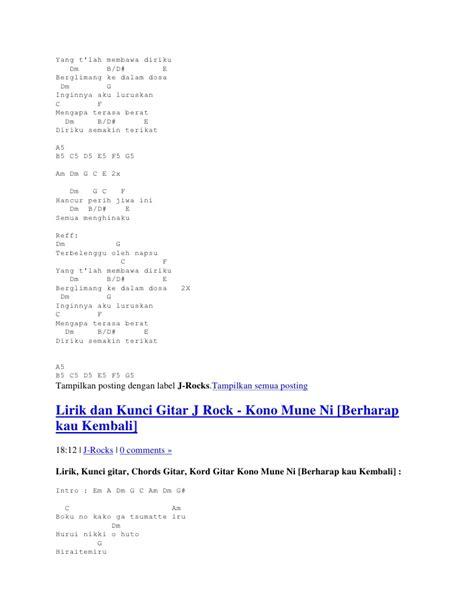 kunci gitar punk rock midstock lirik dan kunci gitar j rock