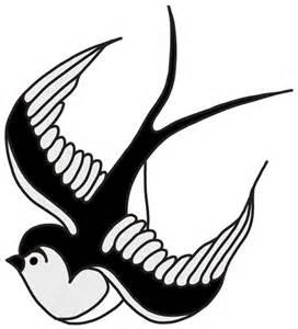 Swallow Wall Stickers rockabilly style swallow by meetmeinm0ntauk on deviantart