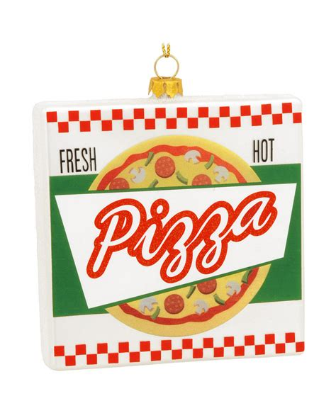 pizza box christmas tree ornament