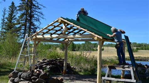 building a gazebo building a log gazebo at big bar lake