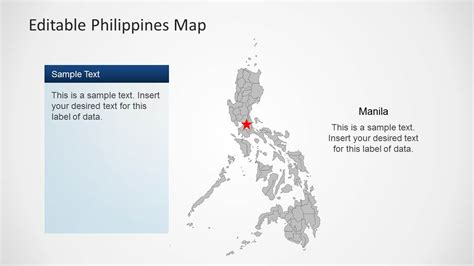 powerpoint themes free download philippines editable philippines map template for powerpoint slidemodel
