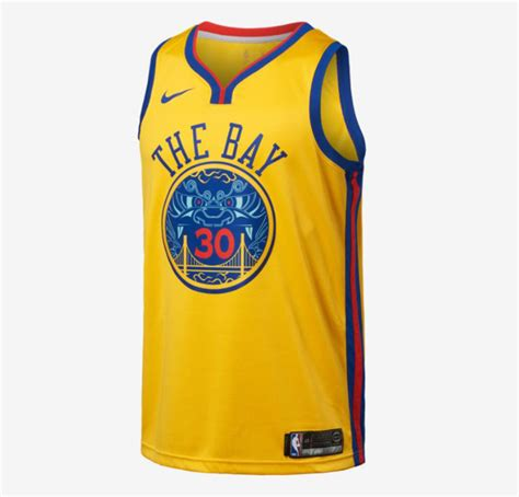Ready Stock Sweater Golden State Warriors Blue Yellow 2017 nike golden state warriors the bay swingman jersey