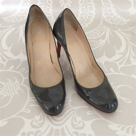 Christian Louboutin Autehntic authentic christian louboutin grey patent pumps valamode