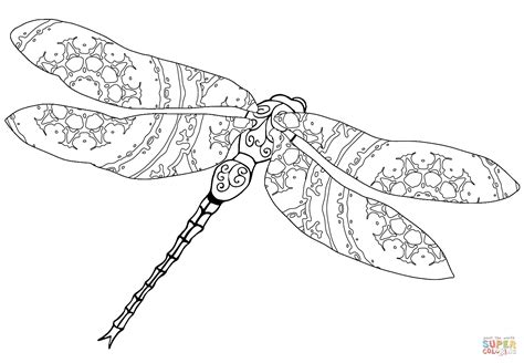 dragonfly coloring page intricate dragonfly coloring page free printable