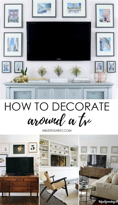 How To Decorate Around A by How To Decorate Around The Tv With A Tv Gallery Wall A