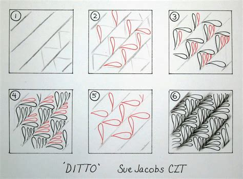 zentangle pattern ideas step by step sue s tangle trips ditto new tangle pattern