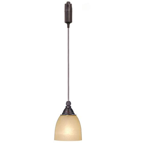 Pendant Lights On A Track Hanging Pendant Track Light Lighting Fixture Bronze Glass Shade Cord Modern Ebay