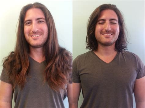 trim haircut before and after how to donate your hair to charity like a chion and