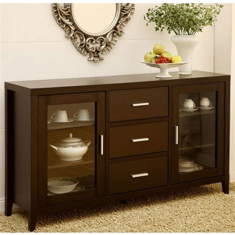 metropolitan espresso finish dining buffet server cabinet