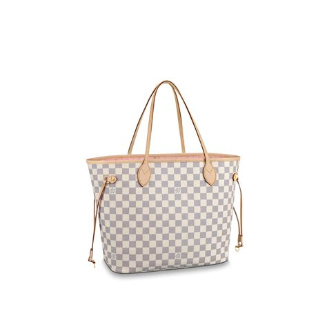 Tas Lv Flower neverfull mm damier azur canvas handbags louis vuitton