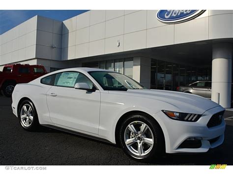 white mustang 2016 oxford white ford mustang v6 coupe 109273802