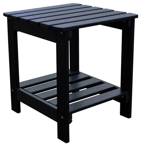 Outdoor Side Table Square Side Table Black Outdoor Side Tables By Shine Company Inc