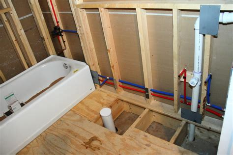 rough in bathroom plumbing in the downstairs bathroom blog