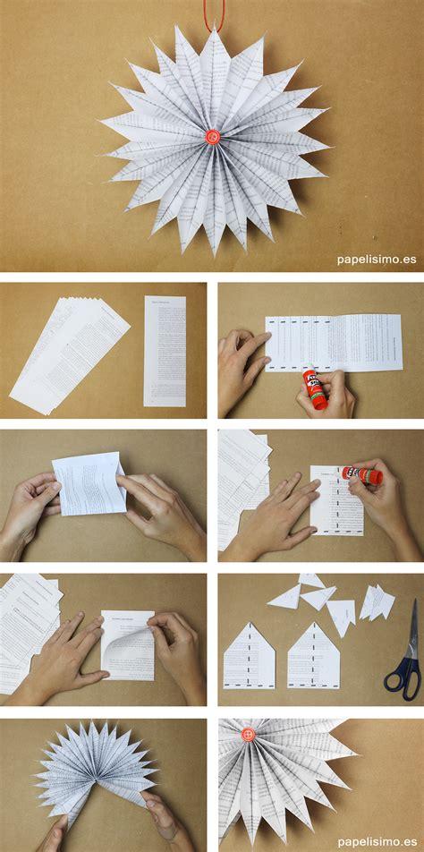 como hacer adornos navide os en casa adornos navide 241 os de papel de peri 243 dico