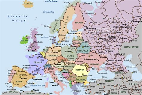 map europe map of europe cities pictures europe cities map pictures
