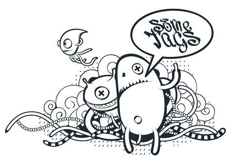 graffiti doodle art   vectors clipart