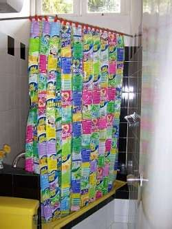 recycled curtains recycled plastic trash shower curtain