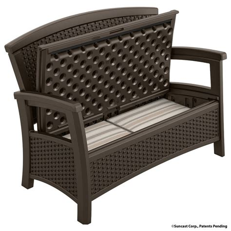 outdoor plastic bench outdoor storage bench the storage home guide