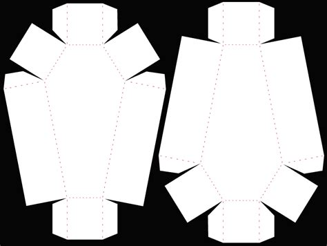 coffin box patterns coffin template halloween