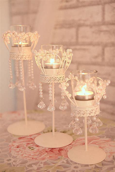 decoration frames pictures candle holders candles home decoration crystal candle holder metal crystal beads