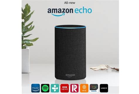 Echo Black Original Smart Speaker Multimedia echo 2nd generation black absolute home