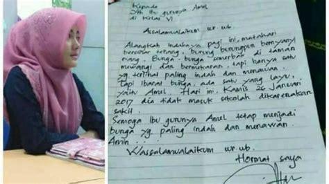 Surat Sakit Untuk Guru by Surat Izin Sakit Ayah Amel Dibalas Bu Guru Isinya Tak