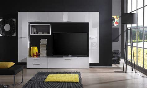 mobila alba moderna pentru living sufragerie