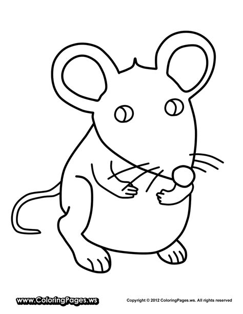 Coloring Page Mouse by And 12 Mouse Coloring Pages Print Color Craft