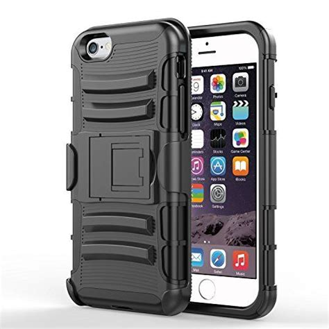 Grosir Iphone 7 Black Armor With Belt Clip Holster Hybrid Sta 1 iphone 6 vakoo heavy duty belt clip ultra