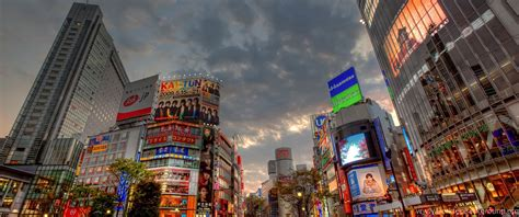 wallpapers city japan sunset shibuya