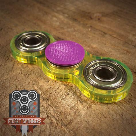 Fidget Spinner Rainbow Metalic Premium Tri Side acrylic edc spinner dual bar fidget with caps