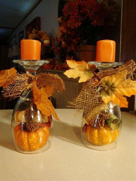 wine glass craft projects 50 of the best diy fall craft ideas kitchen