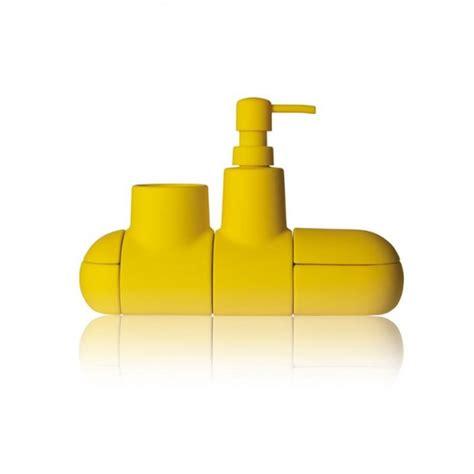Dispenser Giovani seletti set accessori bagno quot submarino quot giallo