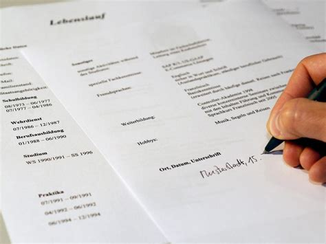 cv writing service writing a german resume