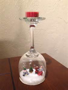 christmas wine glass snow globe christmas pinterest