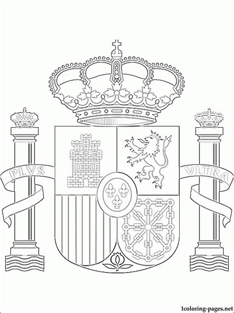 coloring pages of the spanish flag flag of spain coloring page coloring home