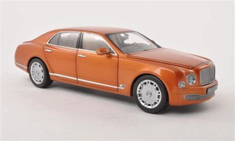 bentley orange bentley mulsanne orange lhd 2010 minichs diecast model