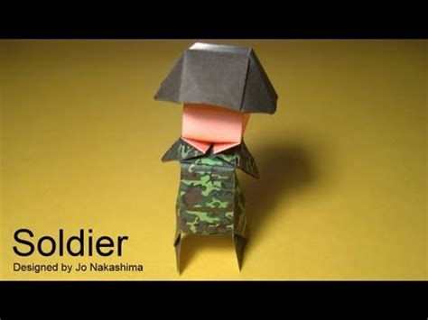 How To Make A Paper Soldier - origami soldier jo nakashima