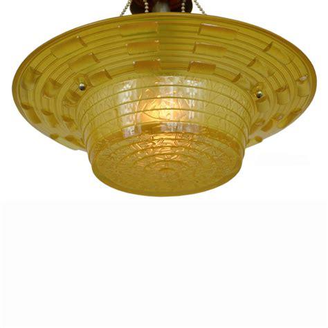 antique glass deco bowl shade ceiling light
