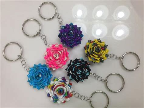 How To Make Handmade Keychains - diy duct flower keychain 101 duct crafts