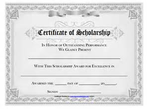 scholarship certificate template word image gallery scholarship certificate