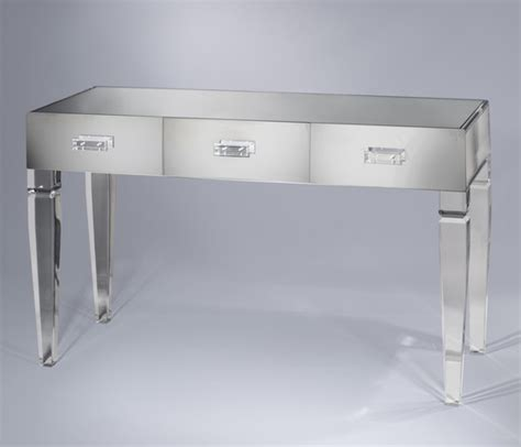 Acrylic Vanity Table King George Vanity Table 3 Drawer Plexi Craft Signature Collection
