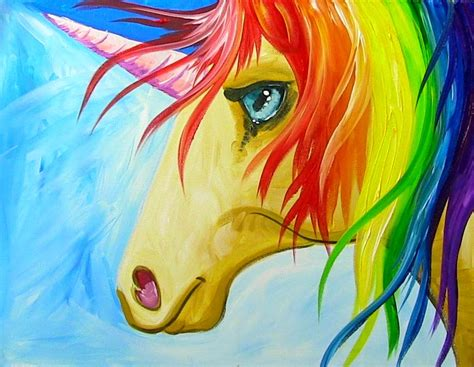 painting unicorn painting with the sherpa easy how to paint a rainbow