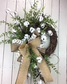 Diy Kitchen Decor Ideas Pinterest how to make a rustic cotton wreath