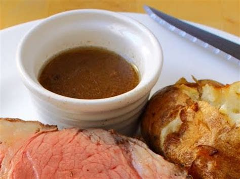 beef au jus recipe au jus for prime rib of beef how to make au ju sauce youtube