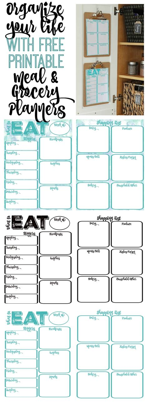 10 lovely monthly meal planner template with grocery list write