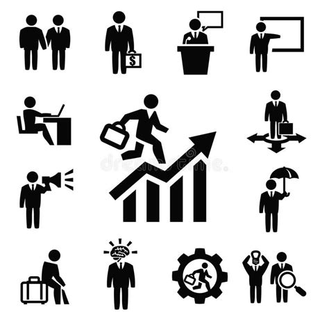 Vector Business Icons Set Royalty Free Stock Photos Image 1095468 Business Persons Icons Stock Vector Illustration Of Leadership 33389048