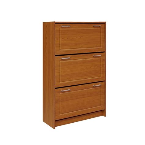 Brown Shoe Cabinet by Baxton Studio Simms Wood Modern Shoe Cabinet In Brown